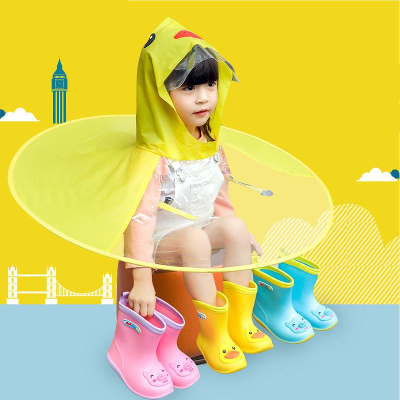 Rubber Boots Children Boots For Girls Boys Kids Cartoon Rainboots Candy Color Antiskid Rain Boot Waterproof Shoes