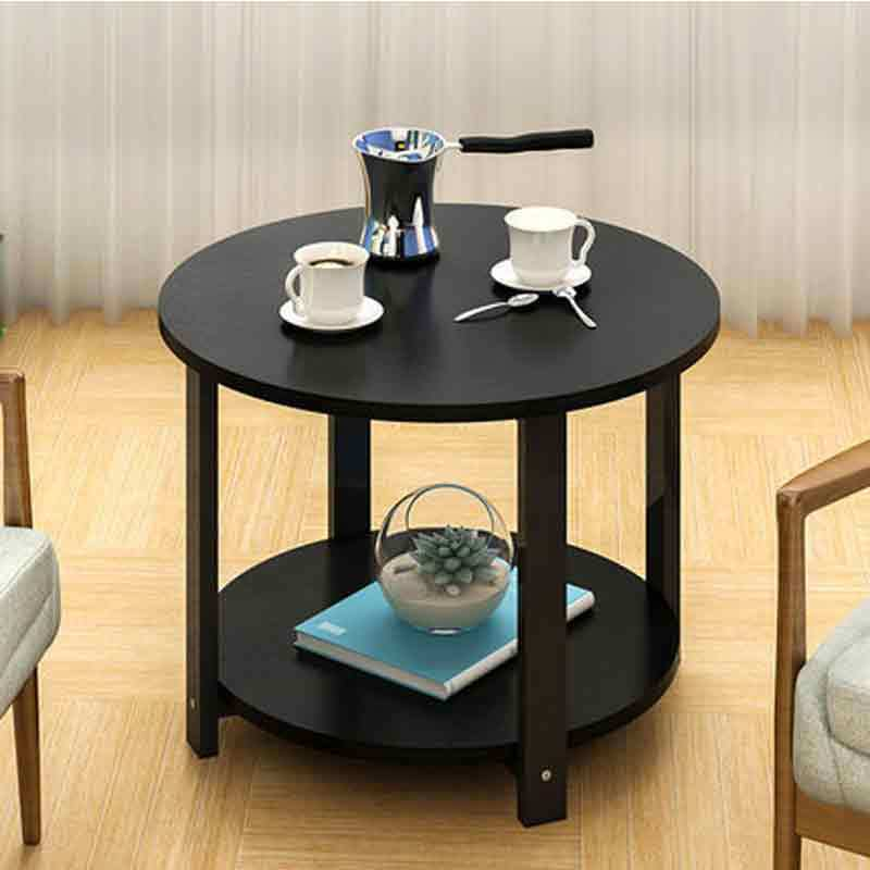 Small coffee table simple sofa side corner table double layers cabinet  modern balcony desk  home cafe furniture